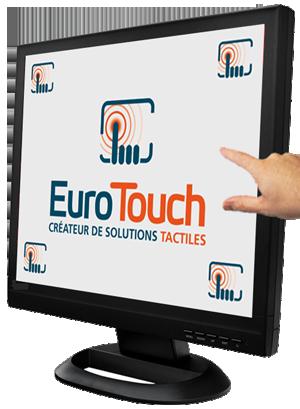 cran tactile 19 pour pc ou terminal point de vente eurotouch. Black Bedroom Furniture Sets. Home Design Ideas
