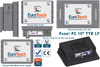 "Panel-PC 15"" encastrable ou rackable avec option écran tactile 1 Slot Low Profile - TYR LP"