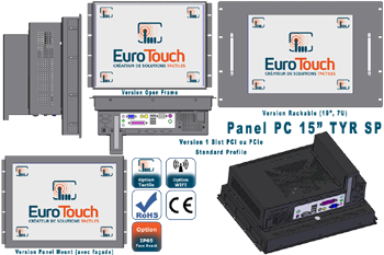 "Panel-PC 15"" encastrable ou rackable avec option écran tactile 1 Slot Standard Profile - TYR SP"
